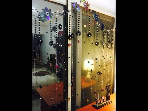 DIY curtain with beads