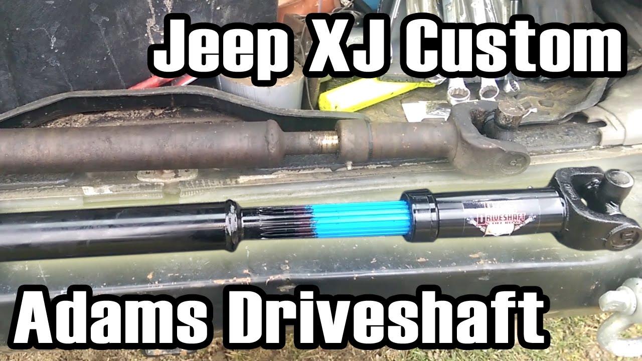 89 Cherokee Custom Length Adams Driveshaft