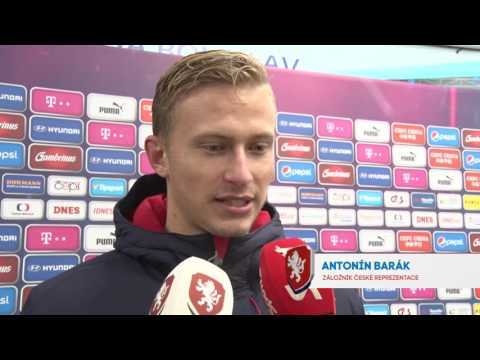 Bořek Dočkal a Antonín Barák po utkání s Dánskem (15. 11. 2016)