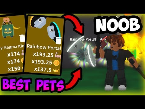 NOOB With BEST & RAREST PETS!! Noob Disguise! | Roblox Saber Simulator