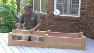Raised Garden Bed Assembly - Fast And Easy - Watch The Clock!
