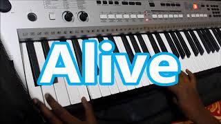 Alan Walker Faded - Keyboard Cover With Lyrics By R.Rezin Benedict Jonas