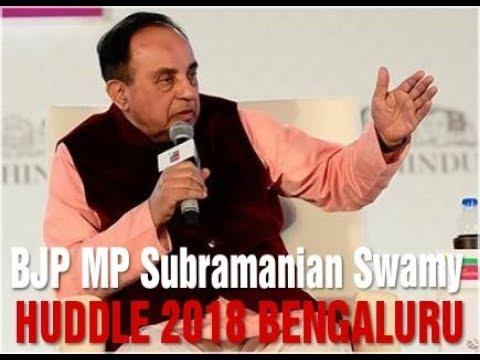 Subramanian Swamy at Huddle 2018 Hindu Conclave at Bengaluru