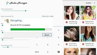 How to view photos and videos in audio manager without password