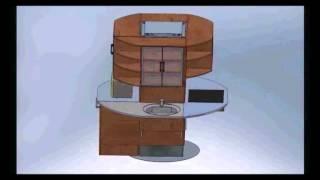 видео Островная мебель