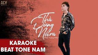 Karaoke | Thà Đừng Nói Ra - Beat Tone Nam | Minh Vương M4U