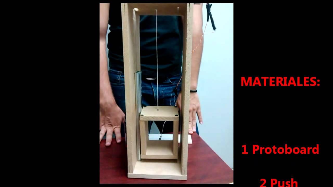 Proyecto circuitos el ctricos elevador youtube for Materiales para hacer un ascensor