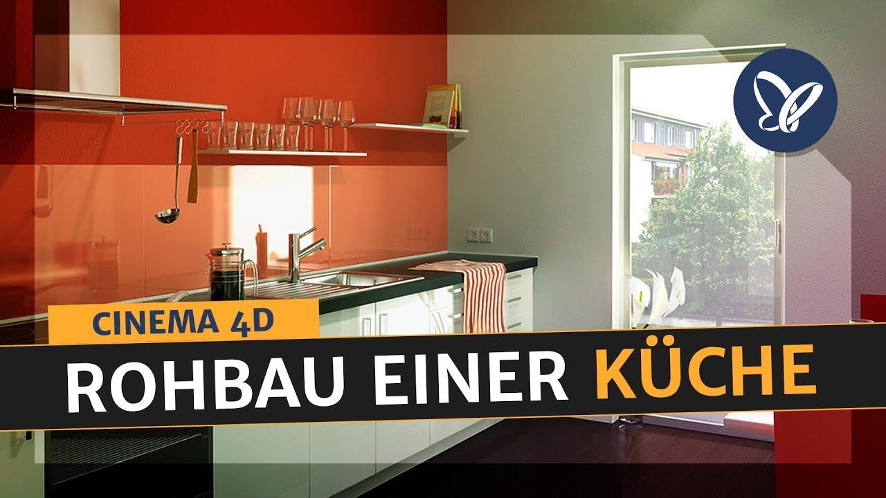 Cinema 21D Tutorial 21D Visualisierung einer Küche Aufbau des Rohbaus