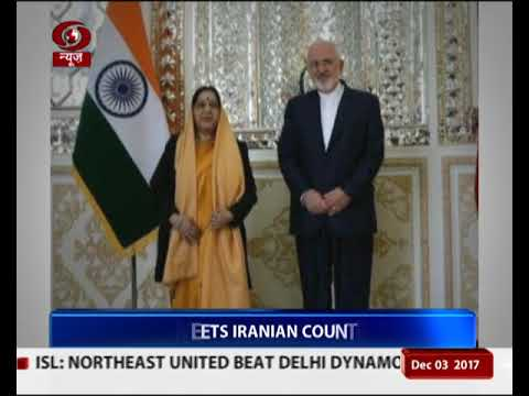 Sushma Swaraj makes stopover at Tehran on return from Russia