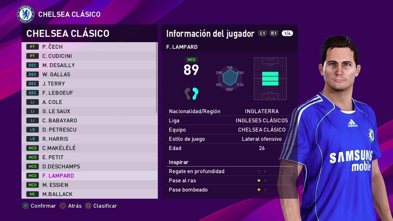 CHELSEA CL U00c1SICO LEYENDAS EFootball PES 2020 YouTube