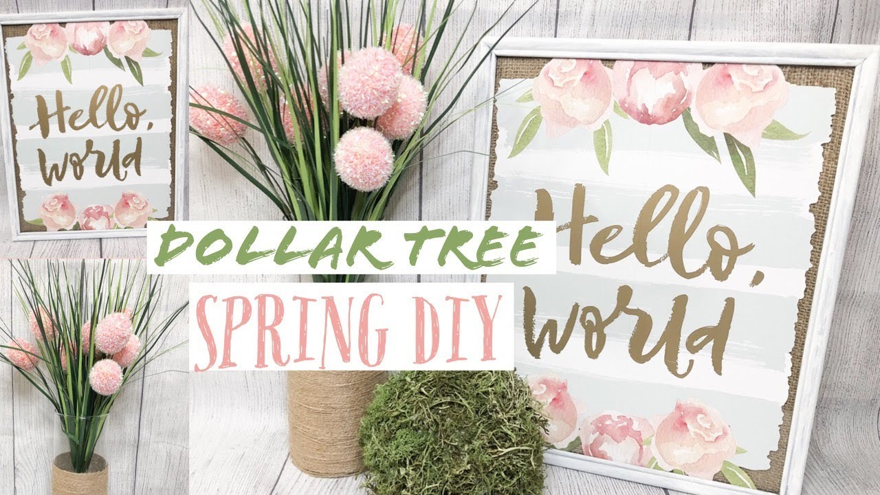 Cheap Home Decorating Crafts: DOLLAR TREE DIY SPRING FARMHOUSE DECOR