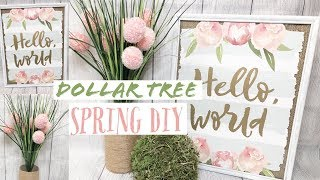 DOLLAR TREE DIY SPRING FARMHOUSE DECOR | EASY SPRING & EASTER DOLLAR TREE CRAFTS