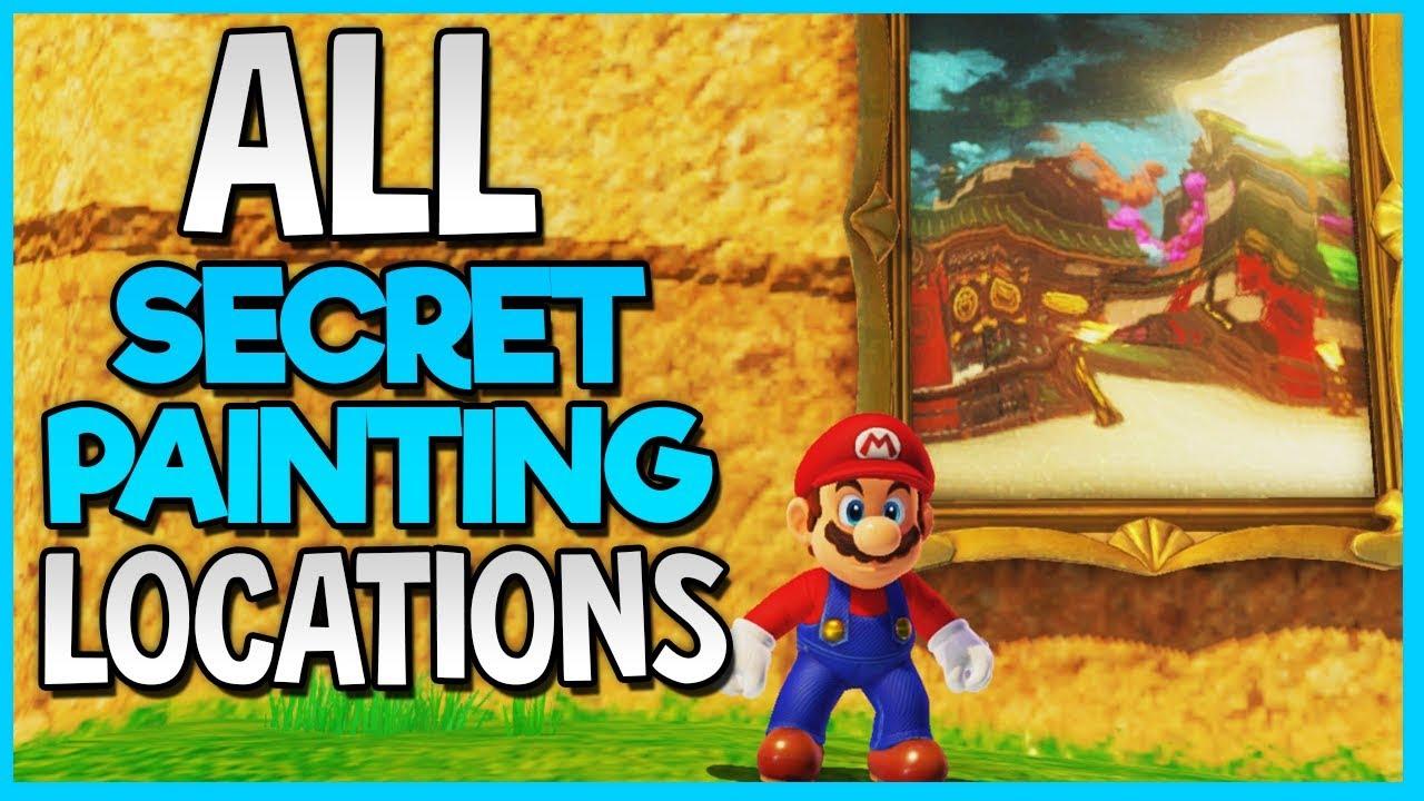 Super Mario Odyssey All Secret Path Locations Hidden Painting Locations