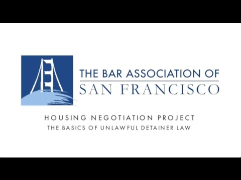 Housing Negotiation Project - The Basics of Unlawful Detainer Law