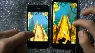 Samsung Galaxy S3 vs. iPhone 4   Game Test - Temple Run screenshot 3