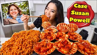 GIANT SPICY SCALLOPS + CREAMY CARBONARA NUCLEAR NOODLES MUKBANG 먹방 | Eating Show