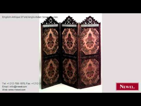 English Antique 3 Fold Anglo-Indian Screens for Sale