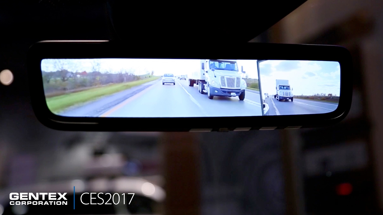 Ces 2017 Gentex Camera Monitoring System Cms Youtube