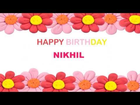 Nikhil   Birthday Postcards & Postales - Happy Birthday