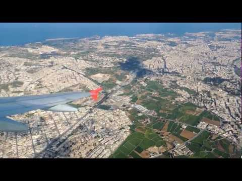 Plane Take off at the Malta Airport FULL HD