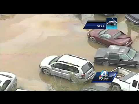 Sky 4 shows flooding devastation in Columbia