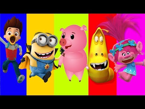 Thumbnail: Wrong Mouth Paw Patrol Trolls Poppys Minions Larva Finger family song Nursery Rhymes Learn Colors