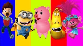 Wrong Mouth Paw Patrol Trolls Poppys Minions Larva Finger family song Nursery Rhymes Learn Colors thumbnail