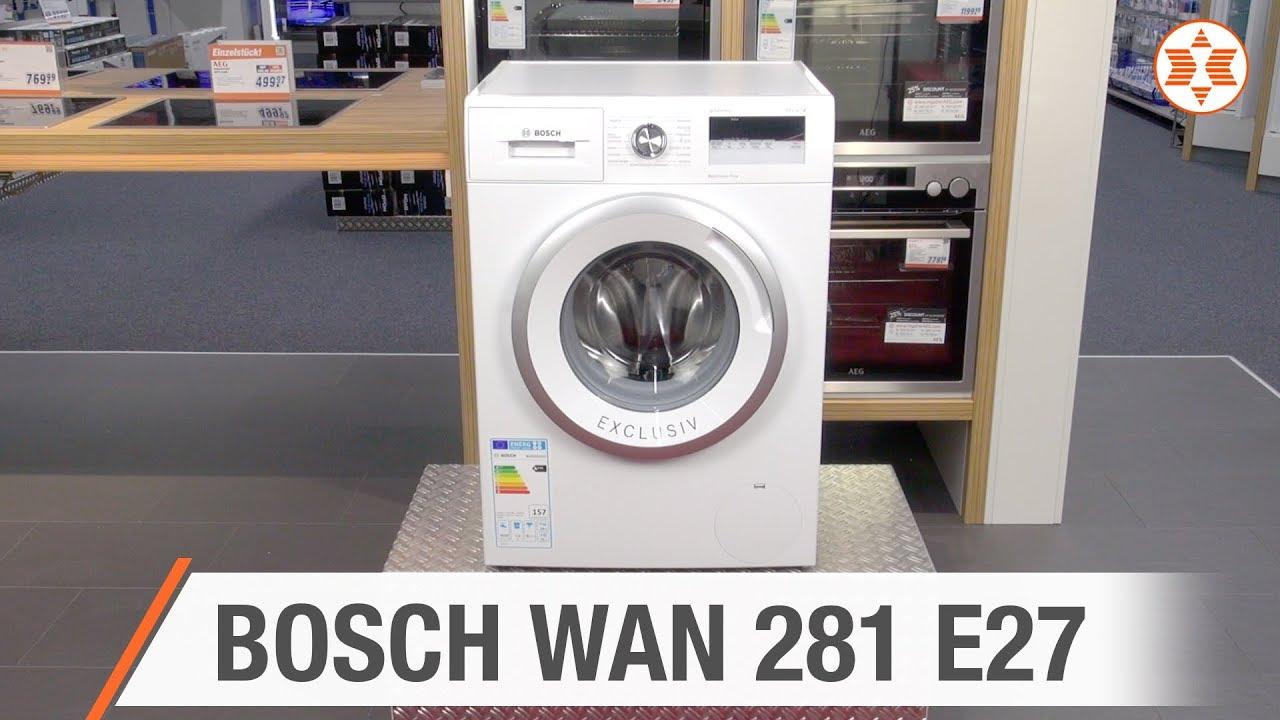 bosch waschmaschine wan 281 e27 experten angebot der woche youtube. Black Bedroom Furniture Sets. Home Design Ideas