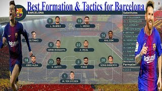 * this video will show you how to create best formation & tactics for barcelona in pes 2019. playlist 2019: https://www./playlist?list=ply5m...