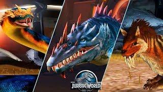 Анаконда против Тилакосмила (саблезуба) Jurassic World The Game
