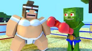 Best love story Minecraft   Boxer vs Sumo  animation Life of Zombo & Sumo