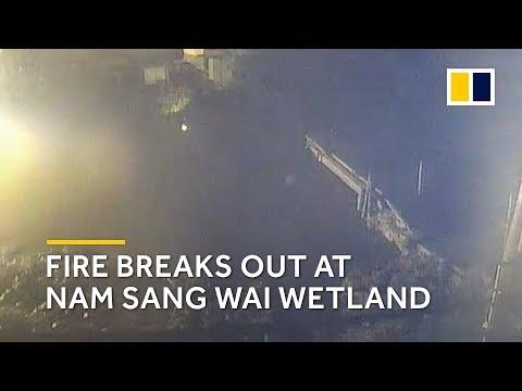 Hong Kong: fire breaks out at Nam Sang Wai wetland