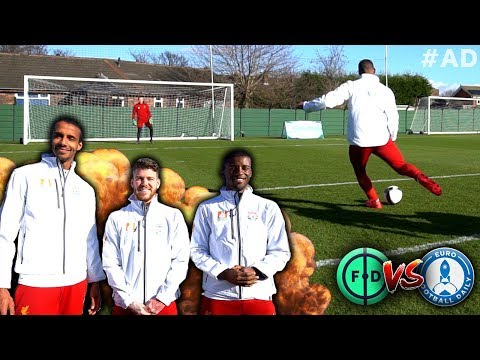 Ultimate Striker Challenge With Liverpool! | Wijnaldum, Moreno & Matip