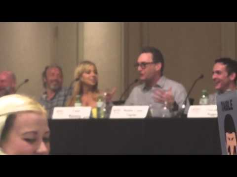 Tara Strong and Tom Kinney speaking @ breakfast for Sickkids @Fanexpo Canada 2015