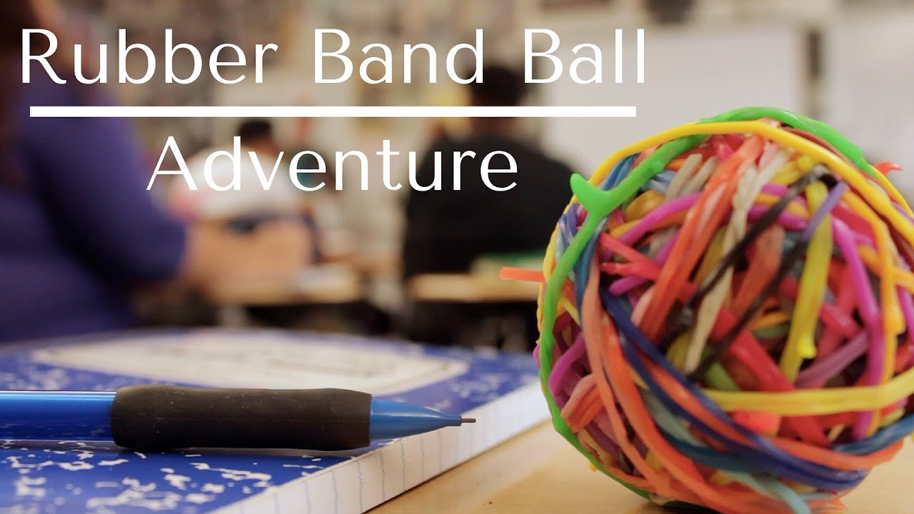 how to make a rubber band ball youtube