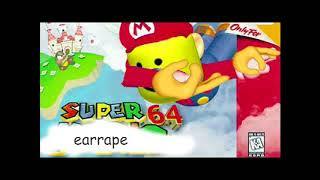 Super mario 64 slide music earrape video