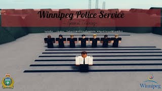 Roblox | City of Winnipeg - WPS - General Training!