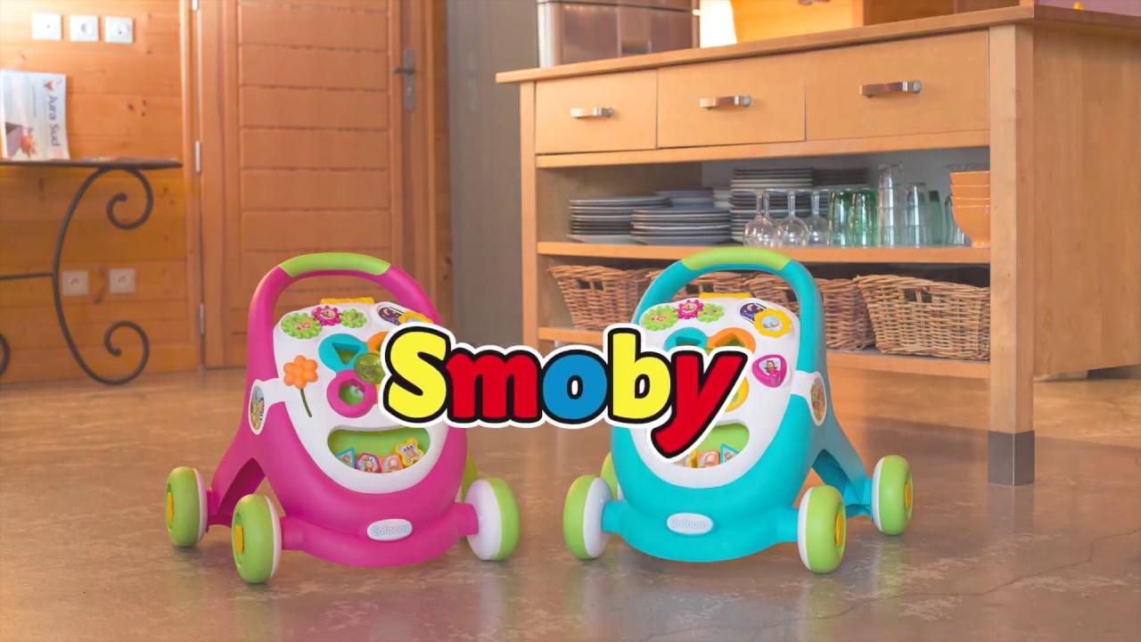Развивающая каталка Ходунки Smoby Cotoons свет звук 110428