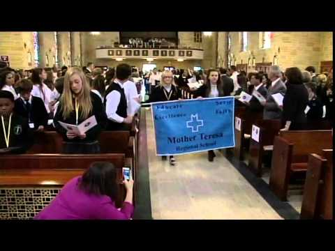 Flag Procession at the Catholic Schools Mass