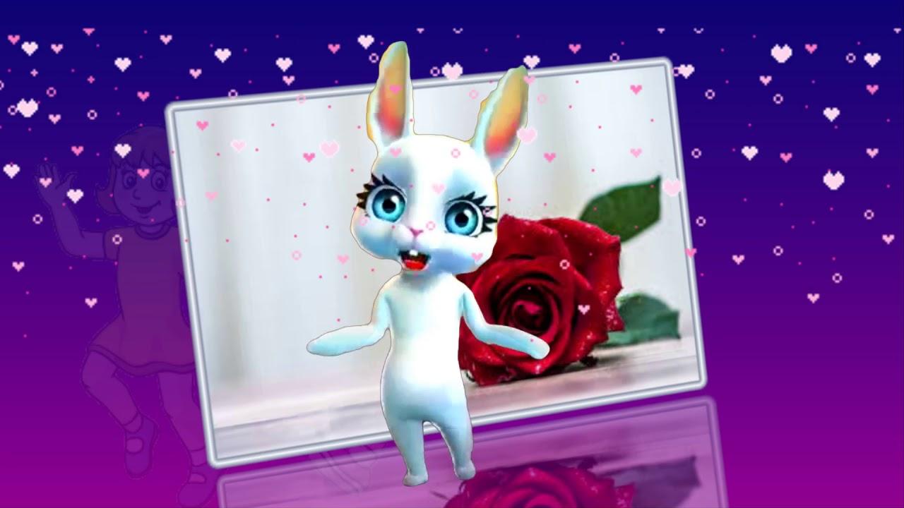 Поздравление с 8 марта заяц поет