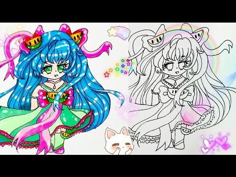 Vẽ chibi anime công chúa dưa hấu 🍉 cute