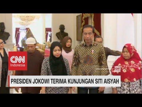 Detik-detik Pertemuan Jokowi Dengan Siti Aisyah Di Istana