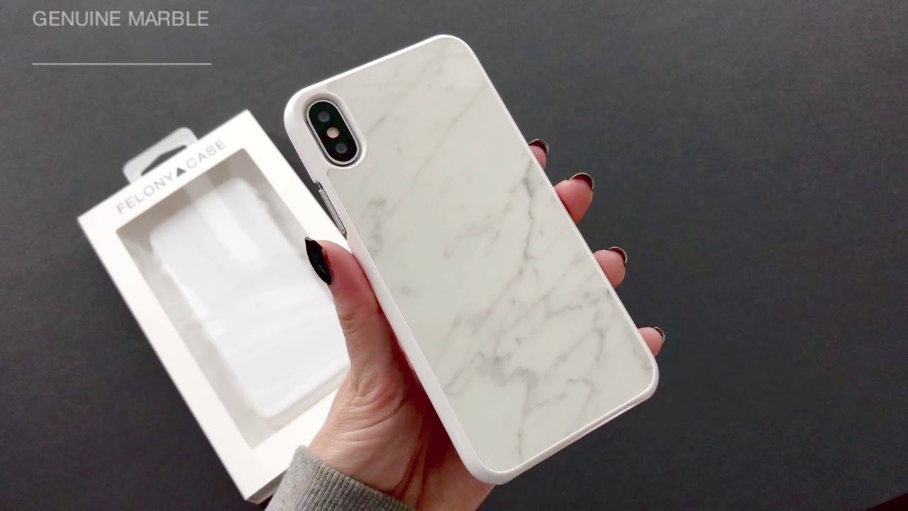 online retailer 9c720 a164a FELONY CASE // Genuine White Marble Case for iPhone X - Unboxing and  Application Tutorial