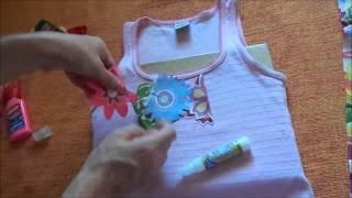 Faça Você Mesma: Blusa decorada com flores de tecido
