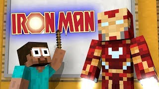 IRON MAN vs Monster School Minecraft Animation Challenge