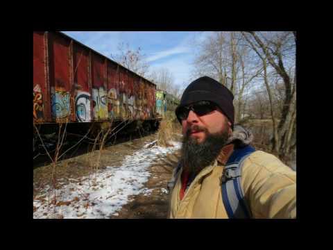 Abandoned Train Coach&Conrail Car D&R Canal N. J.