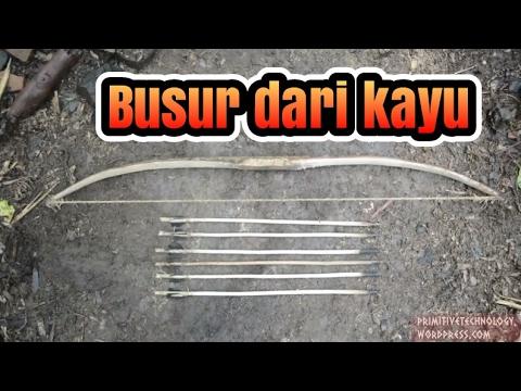 Cara membuat busur panah dengan barang barang sederhana
