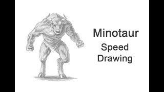 Minotaur Time-lapse / Speed Drawing