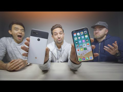 Download Youtube: iPhone X vs Pixel 2 - Reading Mean Comments ft. UnboxTherapy & Dave2D