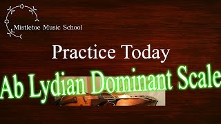 jazz guitar practice 3 2014 10 07 ab lydian 7th スケール練習 ab7